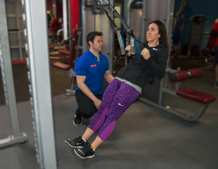 Personal Trainer Darren helping one of his clients get healthier to live a happier life