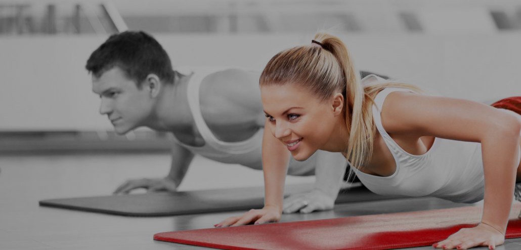 A stock image of a female having a personal training session
