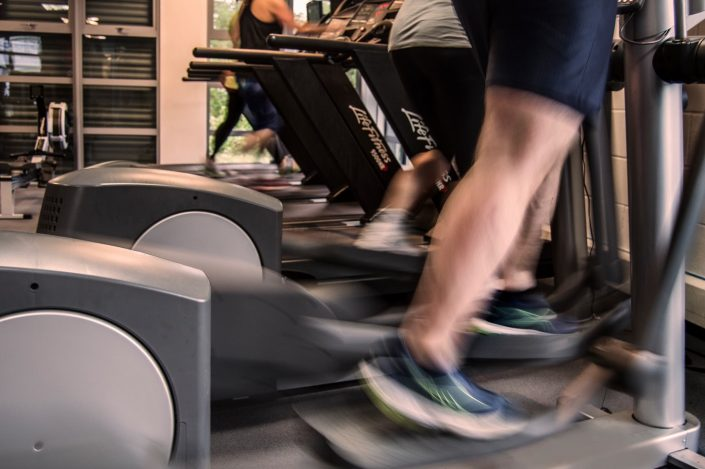 This is a multiple number of gymnasium clients using the Cardio equipment. This is an excellent way of increasing weight-loss