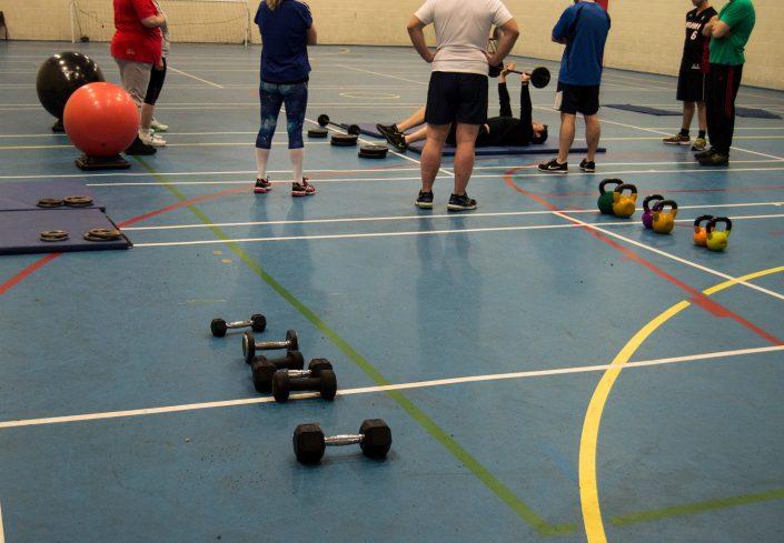 TPTS fitness club circuits class being undertaken by Darren